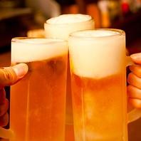 宴会コースはビールやハイボール等2時間飲み放題付!!!