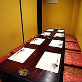 接待やデートなどにおすすめな堀ごたつの完全個室のお席をご用意しております。