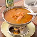 料理メニュー写真有頭エビのスパイシーサワースープ