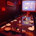 プロジェクター完備ののテーブル個室!