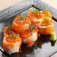 鮮や一夜イチオシのいくらとサーモンのロール寿司♪