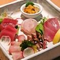 長崎産をメインに、その日に揚がった極上の鮮魚を使ったお刺身。言うまでもなく、ご飯、お酒のどちらとも相性は抜群です。