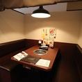 5~6名様用のテーブル席です 間仕切りもあります!!会社での宴会などにもおすすめ♪ゆったりとした時間をお過ごしください