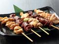 料理メニュー写真選べる大山鶏串焼き5本盛合せ