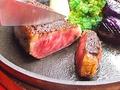 料理メニュー写真和牛イチボの鉄板ステーキ