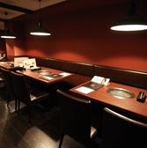 4名様用のテーブル席です!! 1つの空間で12名様までご利用可!!デートからご宴会までご利用できるお席になっております◎