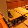 全席、すだれやのれんで仕切れるから半個室風に使える。周囲を気にせずお食事が楽しめます!