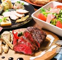 旬食材で彩るコース料理。
