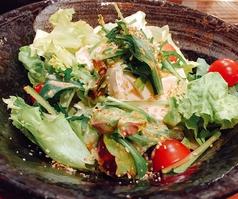 とうふと水菜の和風サラダ