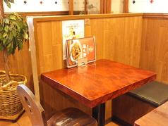 2名様テーブル一例