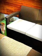 カップルに人気のカップルシート♪今年のビアガーデンはお洒落に♪誕生日・記念日にサプライズ特典ございます!