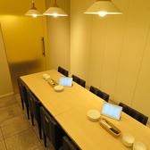 完全なプライベート空間でお食事をお楽しみいただける個室空間。人気のお席なのでお早目のご予約を!