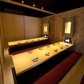 20名前後は2テーブルの個室で♪完全個室だから周りを気にせずゆっくりと◎コンパによく合う6名個室♪様々な利用シーンに対応できるように、色々なタイプの個室を完備しております♪女子会、合コン、宴会、飲み会、デートなど幅広い利用シーンに対応できます!料理は350円~ご用意しております!
