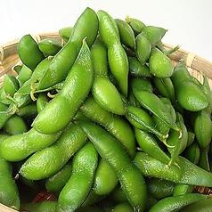 朝採の岩塩枝豆