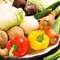 お野菜は全国各地から厳選したものを仕入れております。女性に嬉しいサラダバイキングもご用意いたしております!