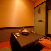 掘りごたつ式個室はゆっくりお食事を楽しんで頂けます。