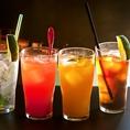 お酒の種類が豊富。飲み放題は50種類以上!