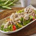 料理メニュー写真霜降りハーブ豚の冷しゃぶサラダ