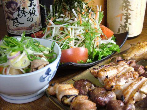 リーズナブルで美味しさ満点!つくば産地鶏を使用した串焼です。
