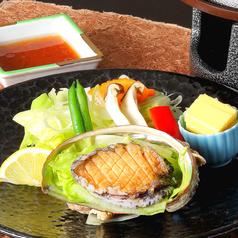 鮑バター焼き(陶板焼)