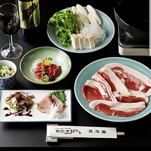 猪鍋とお料理3品コース