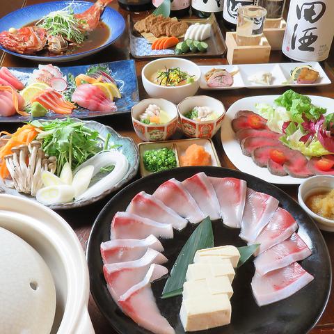小作で本格的海鮮料理と全国地酒が味わえる地元で人気の居酒屋魚吉!