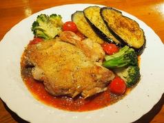 鶏肉と焼き野菜のステーキ(ライス付き)