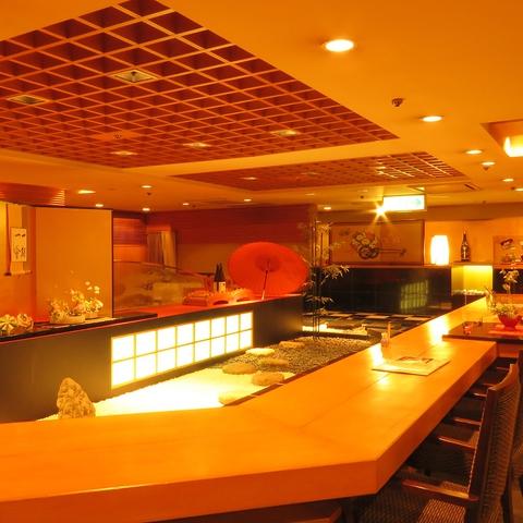 【ホテル東日本/介寿荘】日本庭園をイメージした店構えが癒しの空間を演出。