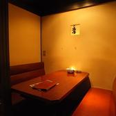 ゆったりとお過ごしいただける対面式ソファーの個室がございます。完全個室の為、プライベートな空間はデートなどにお勧めです!4名様×3部屋、6名様×2部屋、10名様×1部屋と、人数に合わせたお席をご用意しております。