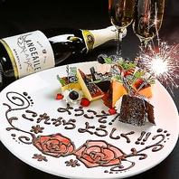 誕生日や記念日、お祝いのケーキや花束をご用意!