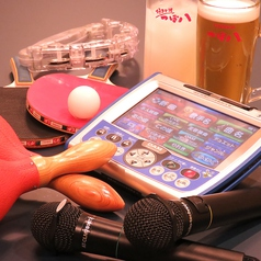 完全個室のパーティールームでは卓球&カラオケができます♪