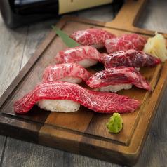 A5黒毛和牛の肉寿司盛り合わせ