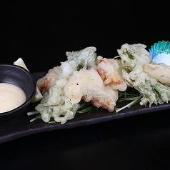 料理メニュー写真秋田県産ポークと水菜のフリータ