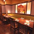 ゆったりできるテーブル席です。中規模宴会もお任せ★はなの舞 竹ノ塚東口店