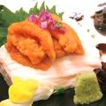 料理メニュー写真ウニと京湯葉