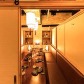 8名様~12名様の中人数向けの個室席も完備しております!まわりを気にせずお愉しみいただけます。雰囲気の良い空間で絶品料理の数々とお酒をお愉しみください。