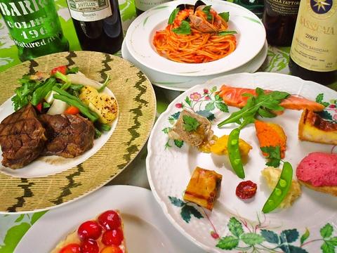 素敵な一軒家のイタリアンレストラン。目が舌が五感が感動するひとときを。
