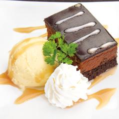 料理メニュー写真ベルギーチョコケーキ