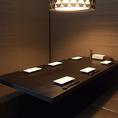 6名様前後の個室。