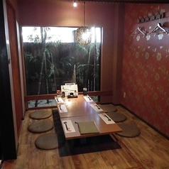 6人掛け×1テーブル。人数によっては、個室宴会も可能です。