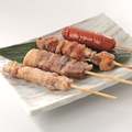 料理メニュー写真串焼き4種盛り