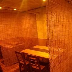 半個室風のテーブル席は3席ご用意!