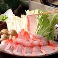 鯛しゃぶなど贅沢な一品もご用意!!食べたい食材等お伝え頂ければ出来る限りご要望にお応えいたします!!