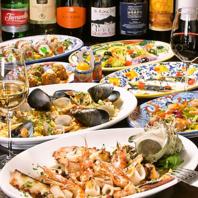 シチリア料理を体得したシェフが作る本物の料理を皆様で