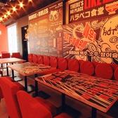可愛いテーブルは大人気!ご予約はお早めに。
