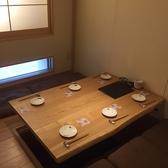 しっぽりとできる個室のお席です!4名様から6名様までご利用いただけます