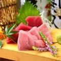 料理メニュー写真本マグロ二種盛り(赤身・トロ)