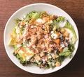料理メニュー写真オーガニック野菜のシーザーサラダ オーガニックキャロットのドレッシング&スーパーBIOフードきく芋入り