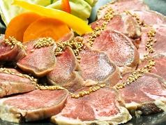 料理メニュー写真厚切りベーコン/豚タン一本焼き