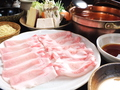 料理メニュー写真豚しゃぶしゃぶ東京エックスロースセット